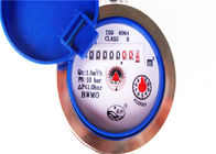 Rotary Residential Water Meters , Single Jet In Line Water Meter LXSG-15E
