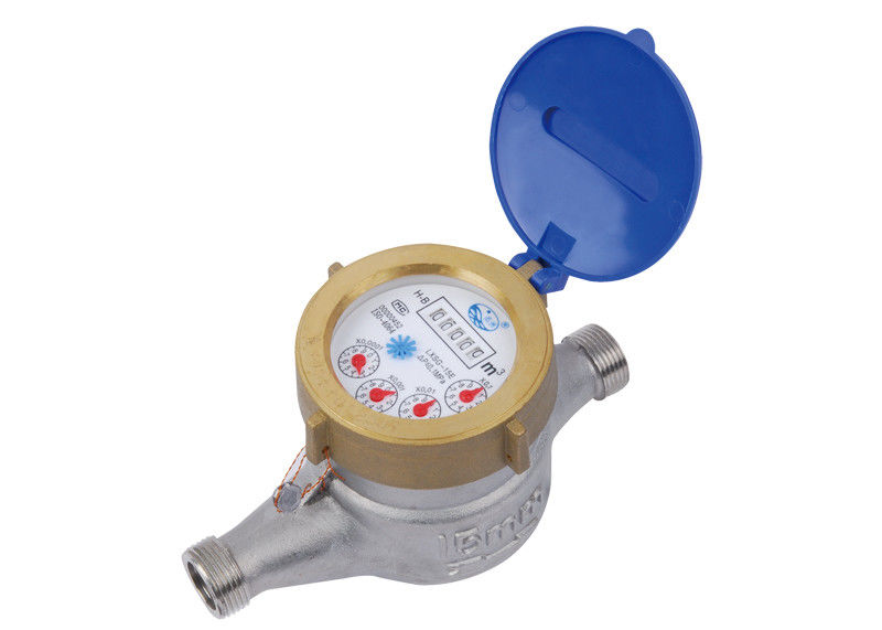 Stainless Steel Residential Water Meters , Digital Vane Wheel Water Meter
