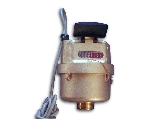Automatic Rotary Piston Water Meter , Cold Impulse Water Meter LXH-15Y