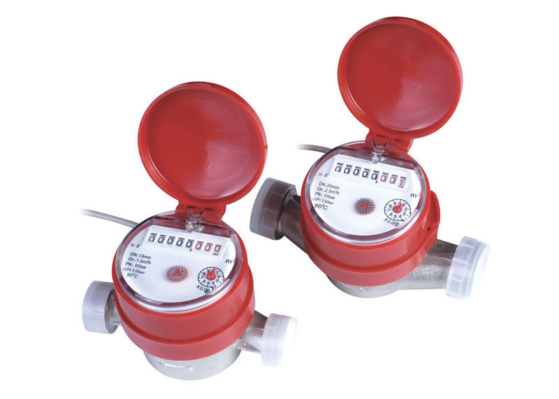 Household Single Jet Hot Water Meter 20mm With Remote Reading LXSC